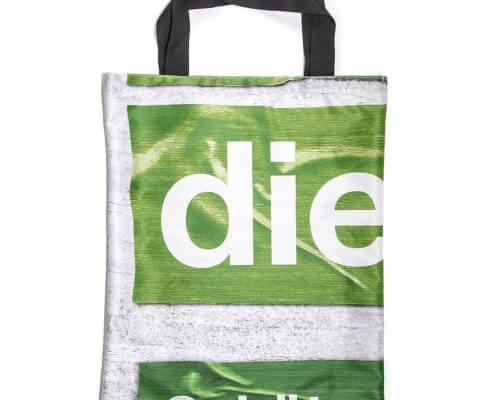 Recycling Tasche aus einem Bagdrop