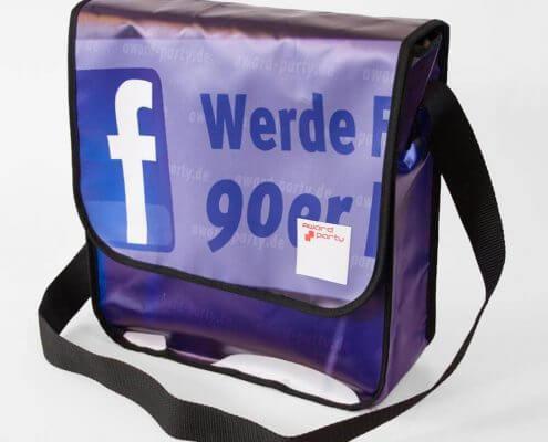 90er Party - Banner zu Tasche recycelt