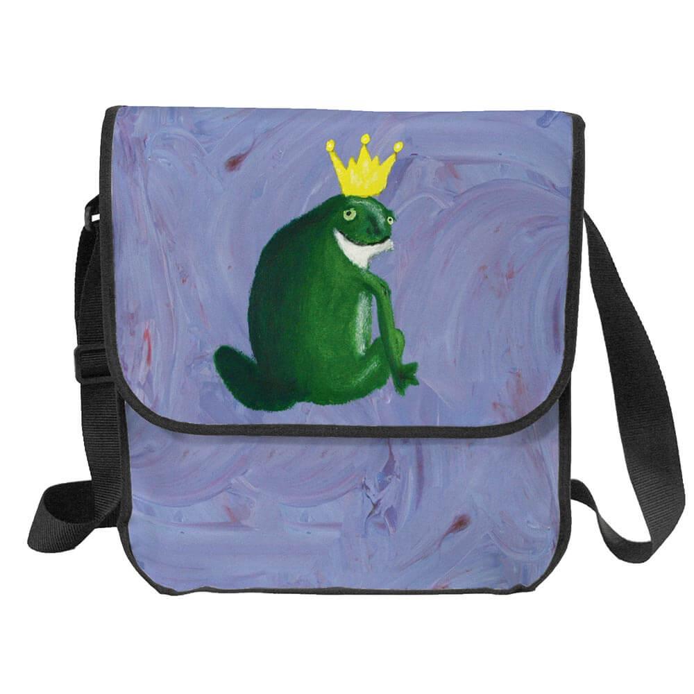 Recycling Tasche aus Backlite mit einem Frosch als Hingucker