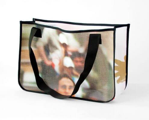 Recycling Tasche aus Mesh-Banner des Albert Schweizer Turniers
