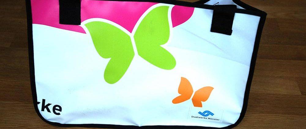 Recycling Tasche aus PVC-Banner der Stadtwerke Münster