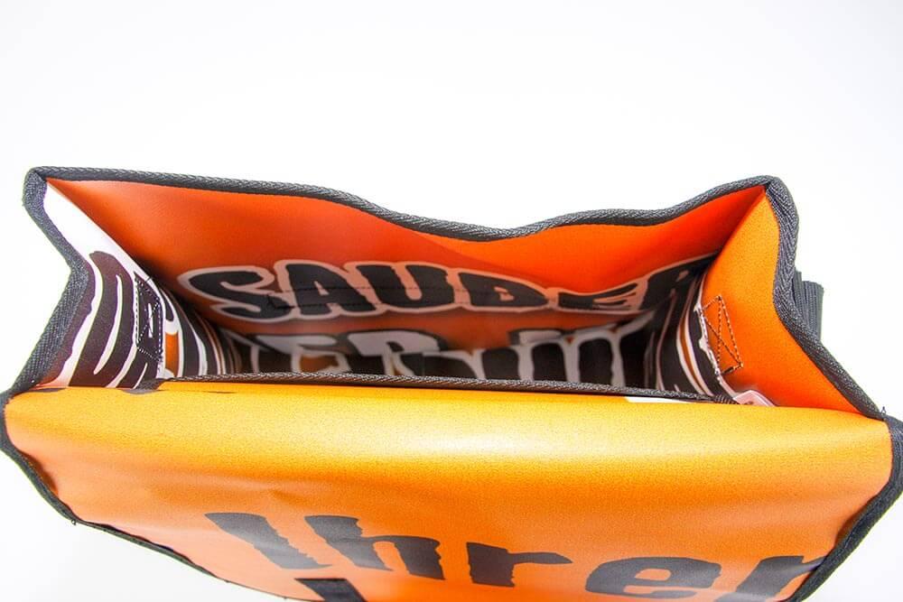 Hornback-Baumarkt-Banner wird zur Recycling Tasche