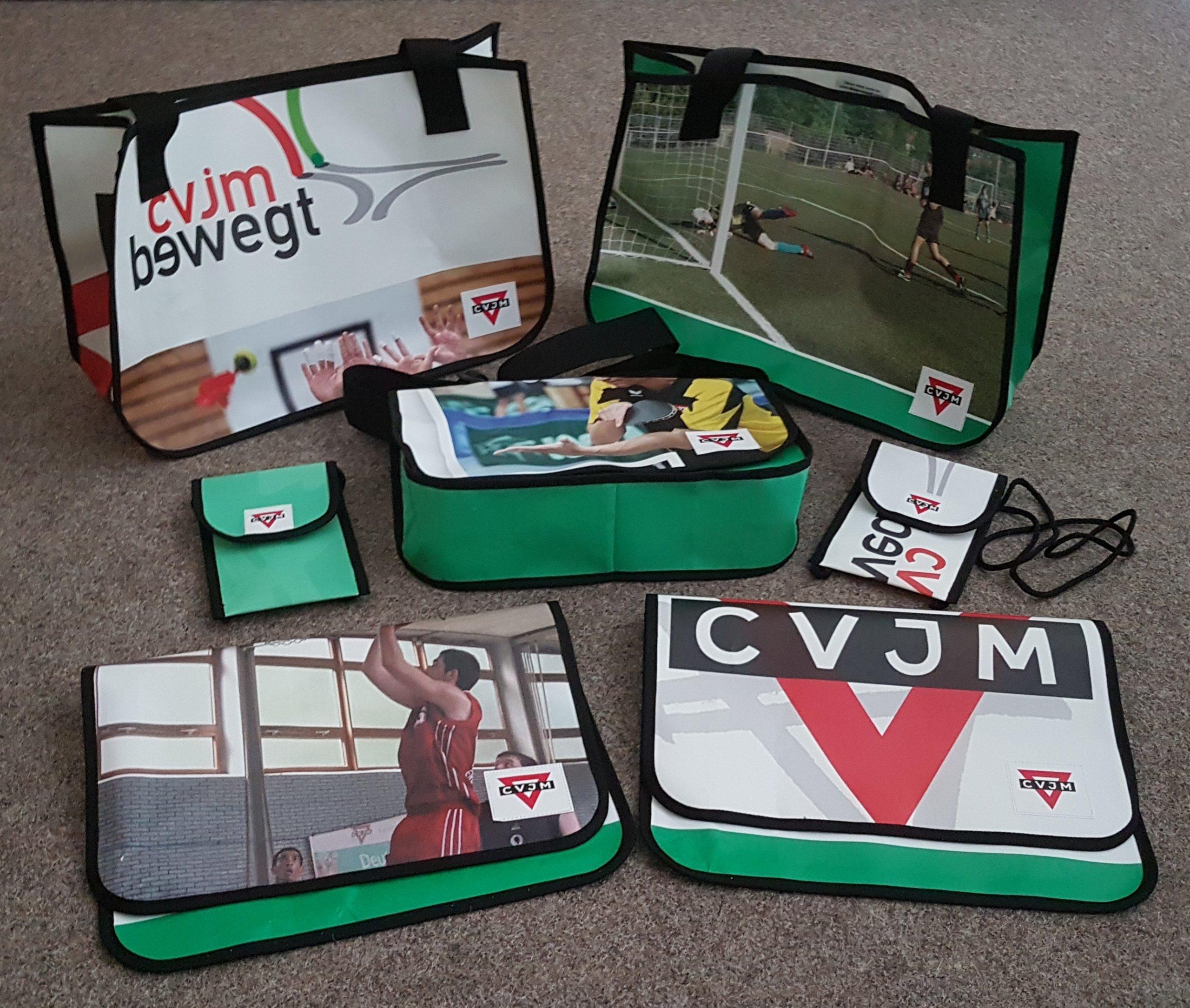 CVJM Recycling Upcycling Tasche aus Banner