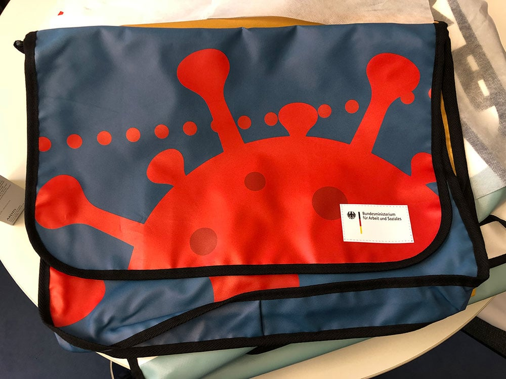 Bundesministerium Recycling Upcycling Tasche aus Banner