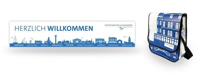 Ostseebad Kühlungsborn Recycling Upcycling Tasche aus Banner