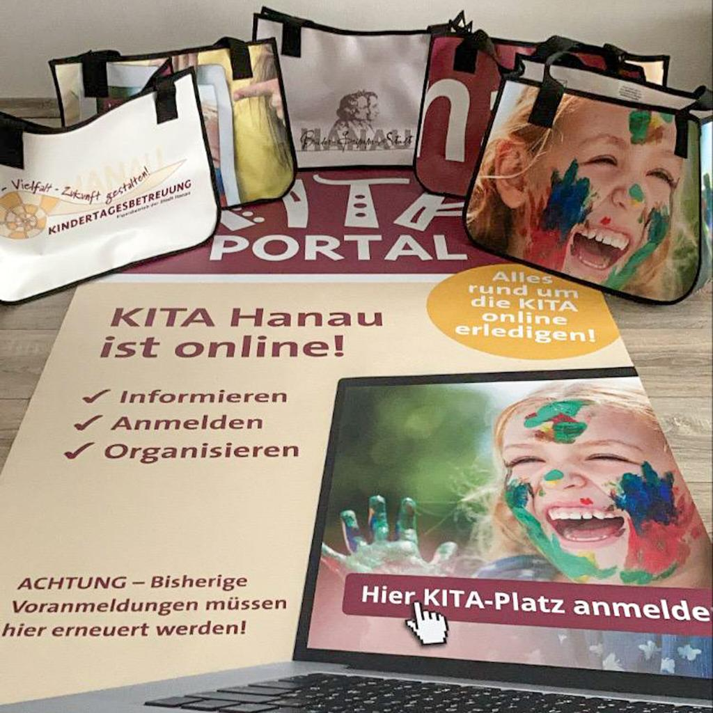 Hanau Recycling Upcycling Tasche aus Banner