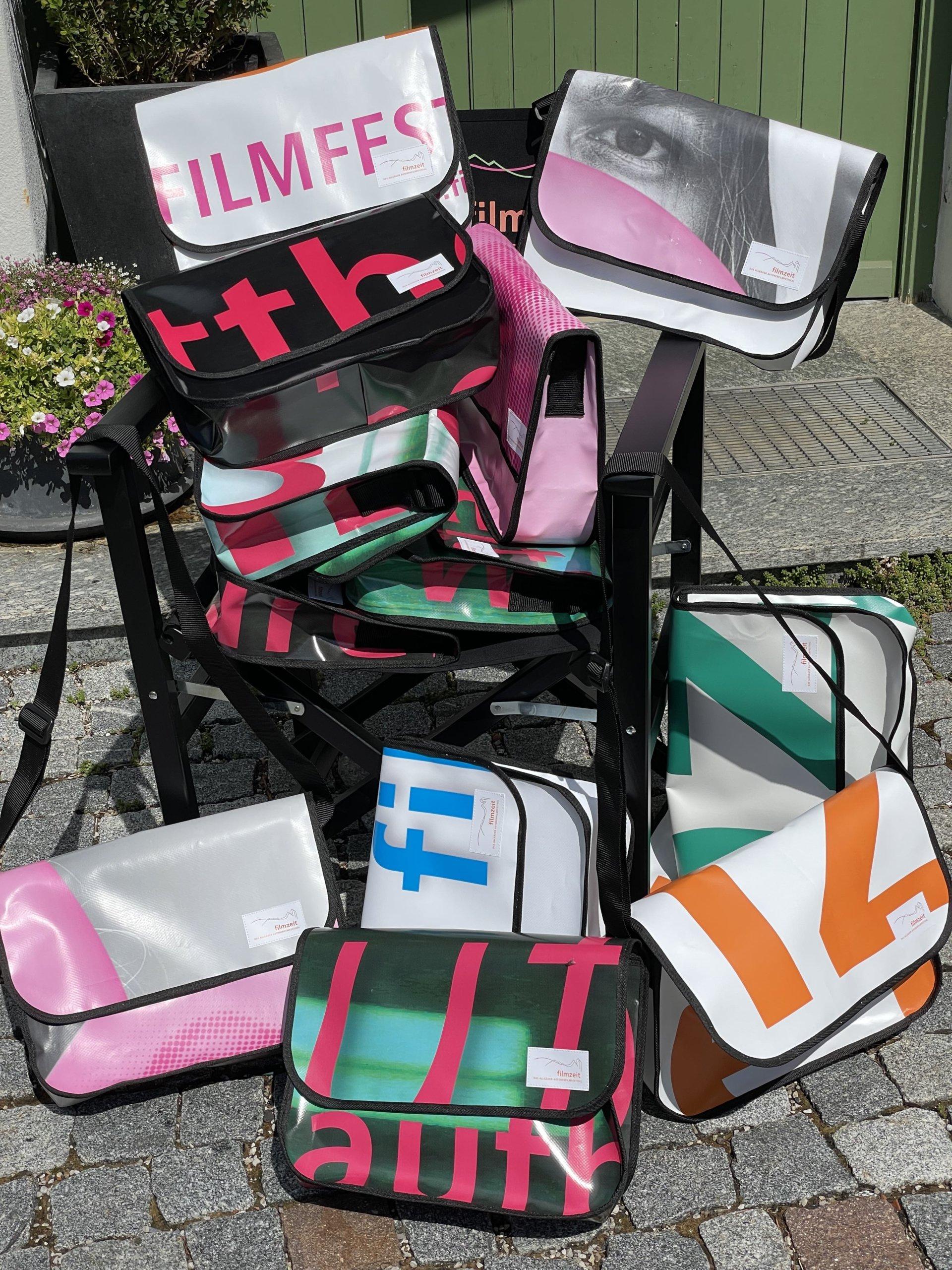 Filmzeit Kaufbeuren Recycling Tasche aus Banner